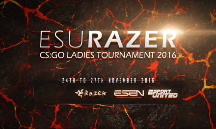 Day one of ESU Razer CS:GO Ladies tournament 2016